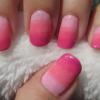 Nail Art Design Shades of Pink