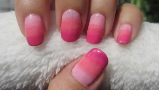 Nail Art Design Shades of Pink