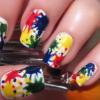 Paint Splatter Nail Art Design