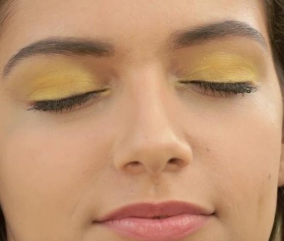 Eye Makeup - Sunshine Eyes - Apply Yellow Eye Shadow - Completed