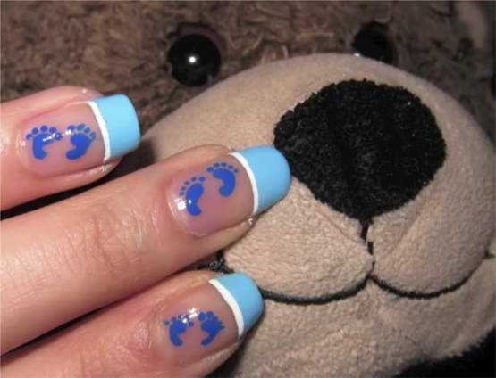 Baby Shower Nail Art Design
