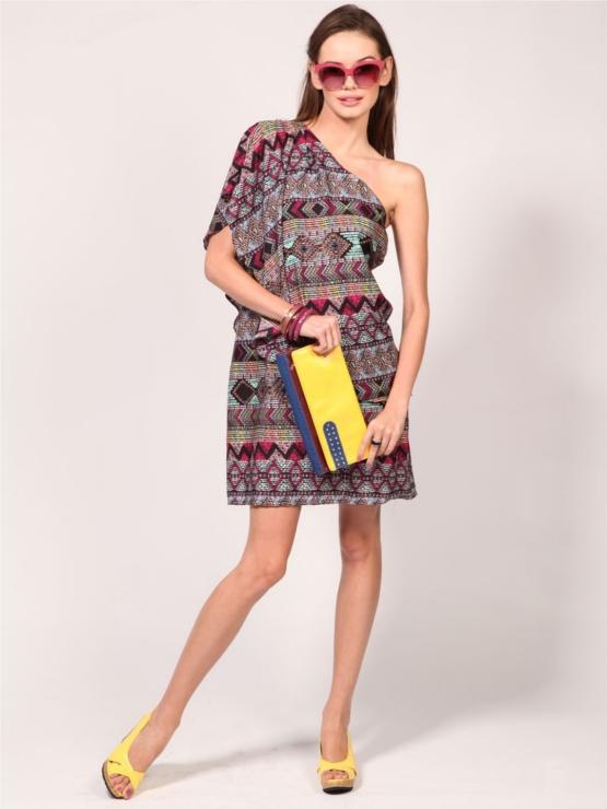 KOOVS One Shoulder Tunic Dress