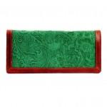Holii Embossed Floral Design Garnet Red Rimmed Bifold Clutch Price Rs 995