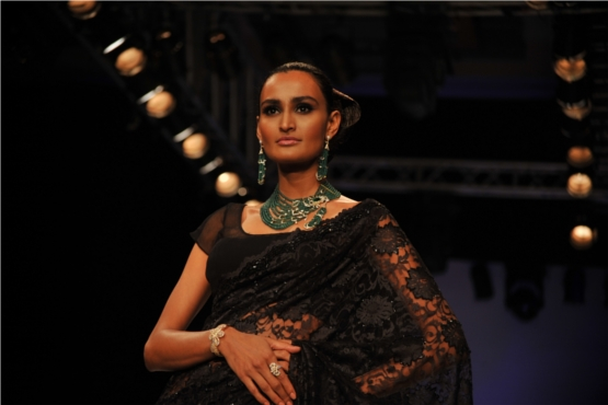 Model Wearing Traditional Jewelry from Kays Jewels at IIJW 2012