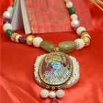 Tanjore Inspired Jewellry Neckpiece Musskan Agarwal