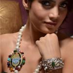 Tanjore Inspired Jewellry Neckpiece Musskan Agarwal - Model
