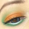 Eye Makeup - Indian National Flag Look