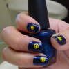 how to do smiley nail art