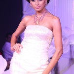 A model showcasing jewelery at Wedding Asia preview of designer Dolly Oberoi