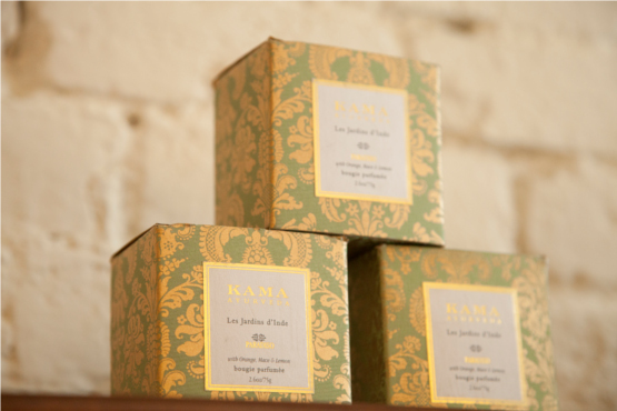 Kama Ayurveda Store - Merchandise Stacked Against Wall