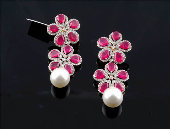 02c4f0530 Diamond Earrings - Exotic Festive Range from Amaris Jewels by Prerna ...