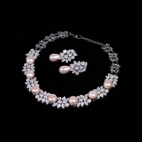 Diamond and South Sea Pearl Set