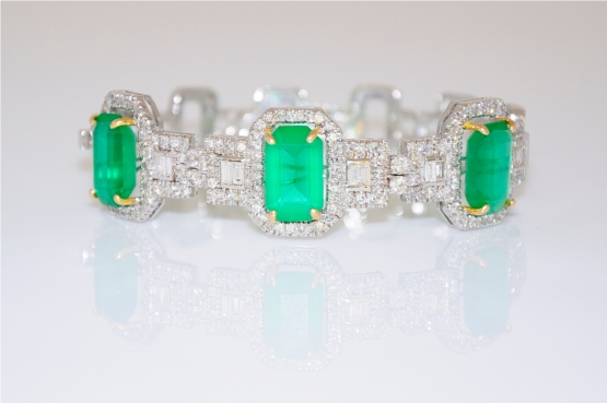 Art Deco Emerald Bracelet