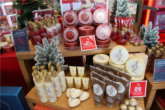 The Body Shop Limited Edition Vanilla Cranberry and Ginger Range