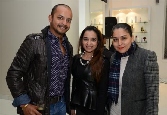 Cricketer Murali Kartik, Kitty Kalra and Shweta Kartik
