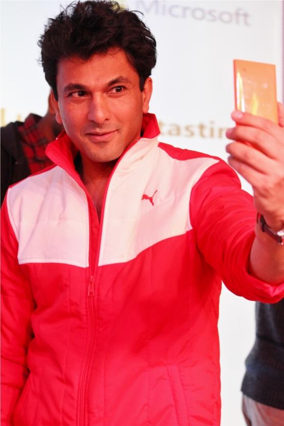Chef Rajiv Khanna takes a selfie.