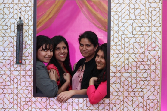 The team which made the event possible at the photo booth. Great launch event girls!