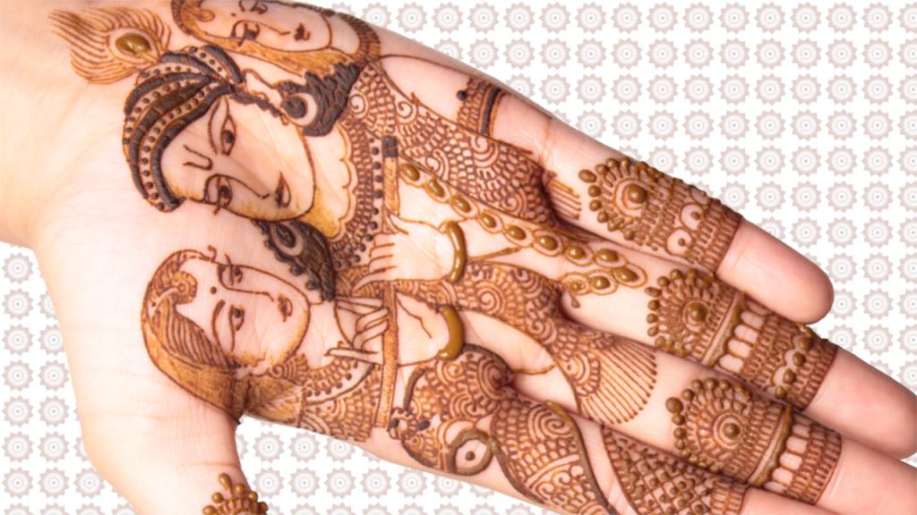 Henna Tattoo Krishna & Radha